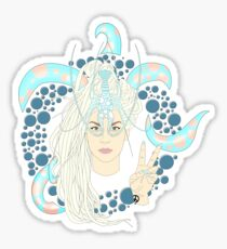 Octo Art Raver. Sticker