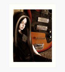 Atreyu and the Guitar Art Print
