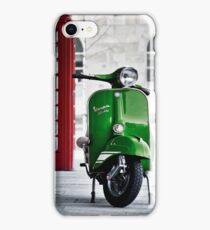 Italian Green Vespa Rally 200 Scooter iPhone Case/Skin