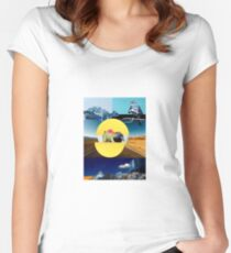 Collage Scape Women's Fitted Scoop T-Shirt