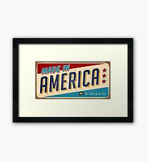 We're American Framed Print
