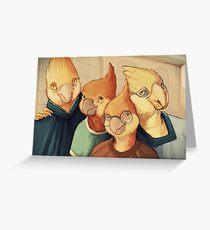 Ironbeak Family Photo Greeting Card