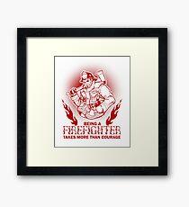 Firefighter Fireman Framed Print