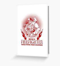 Firefighter Fireman Greeting Card