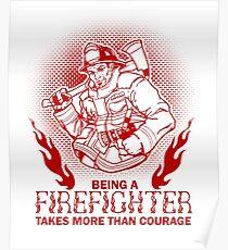 Firefighter Fireman Poster