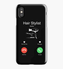 HAIR STYLIST MOBILE iPhone Case/Skin
