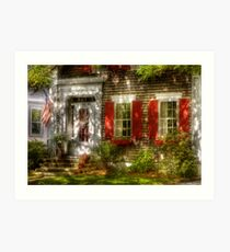 Typical American house Art Print