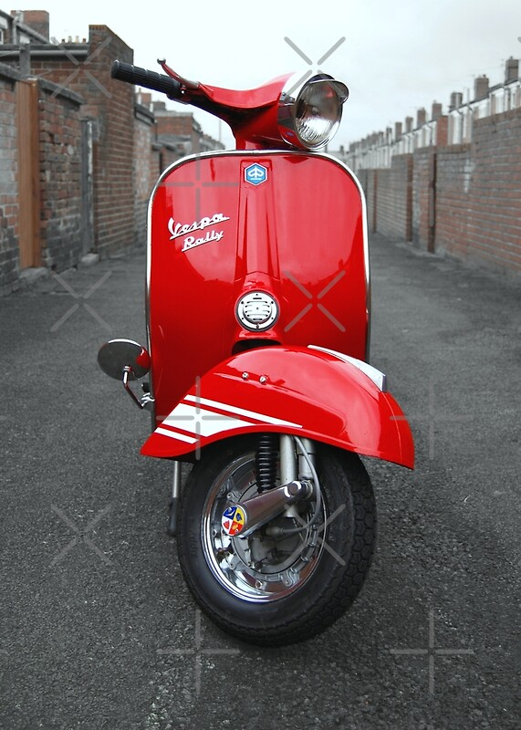 red vespa rally 200 photographic prints by aj airey. Black Bedroom Furniture Sets. Home Design Ideas