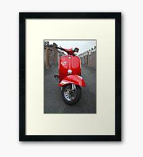 Red Vespa Rally 200 Framed Print