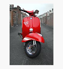 Red Vespa Rally 200 Photographic Print