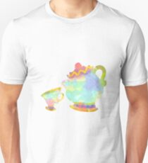 Cup and Teapot Inspired Silhouette Unisex T-Shirt