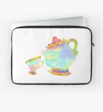 Cup and Teapot Inspired Silhouette Laptop Sleeve