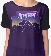 Himalaya in Sanskrit Chiffon Top