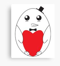 Adorable Love Penguin Canvas Print