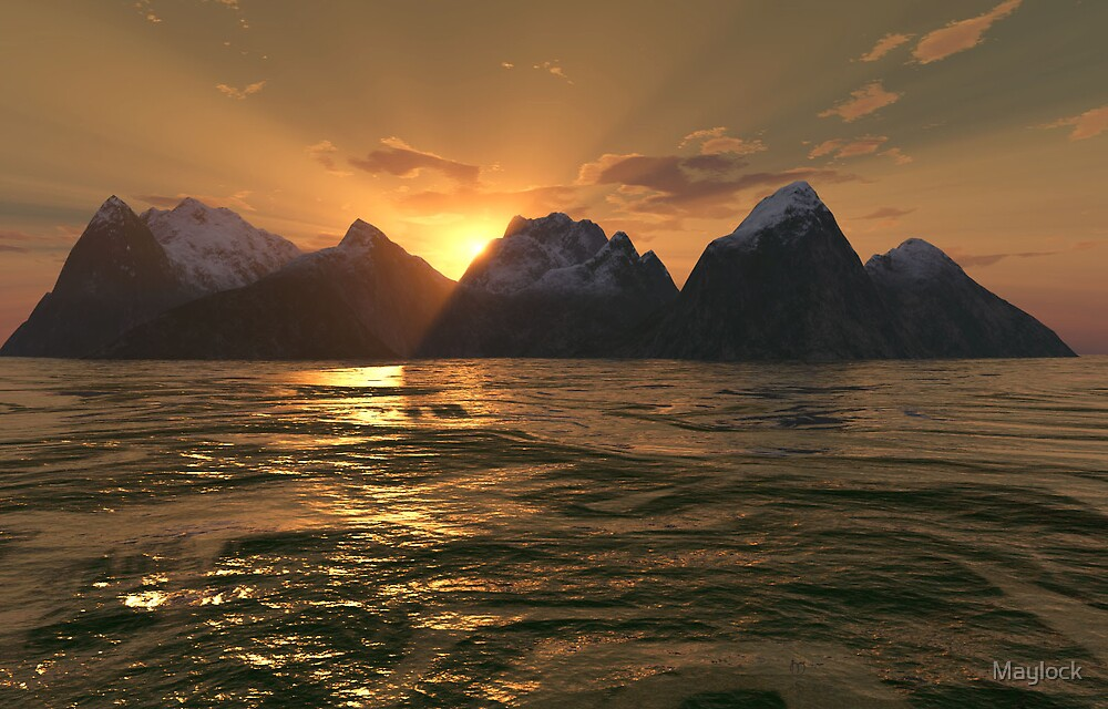 Volcanos Sunset by Maylock