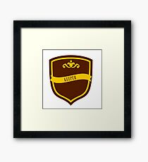 Red and Gold Badge 7 Framed Print