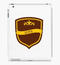 Red and Gold Badge 7 iPad Case/Skin