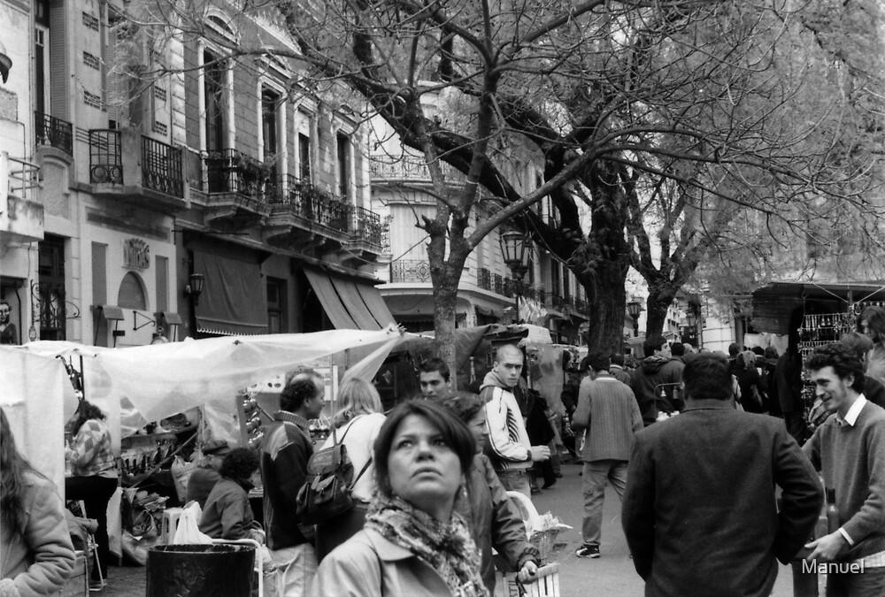 Plaza Dorrego, Buenos Aires by Manuel GOURSOLLE
