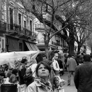 Plaza Dorrego, Buenos Aires by Manuel