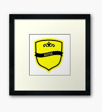 Black and Yellow Badge 7 Framed Print