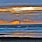 SUN BEAMS AT SUNSET by Rhonda R Clements
