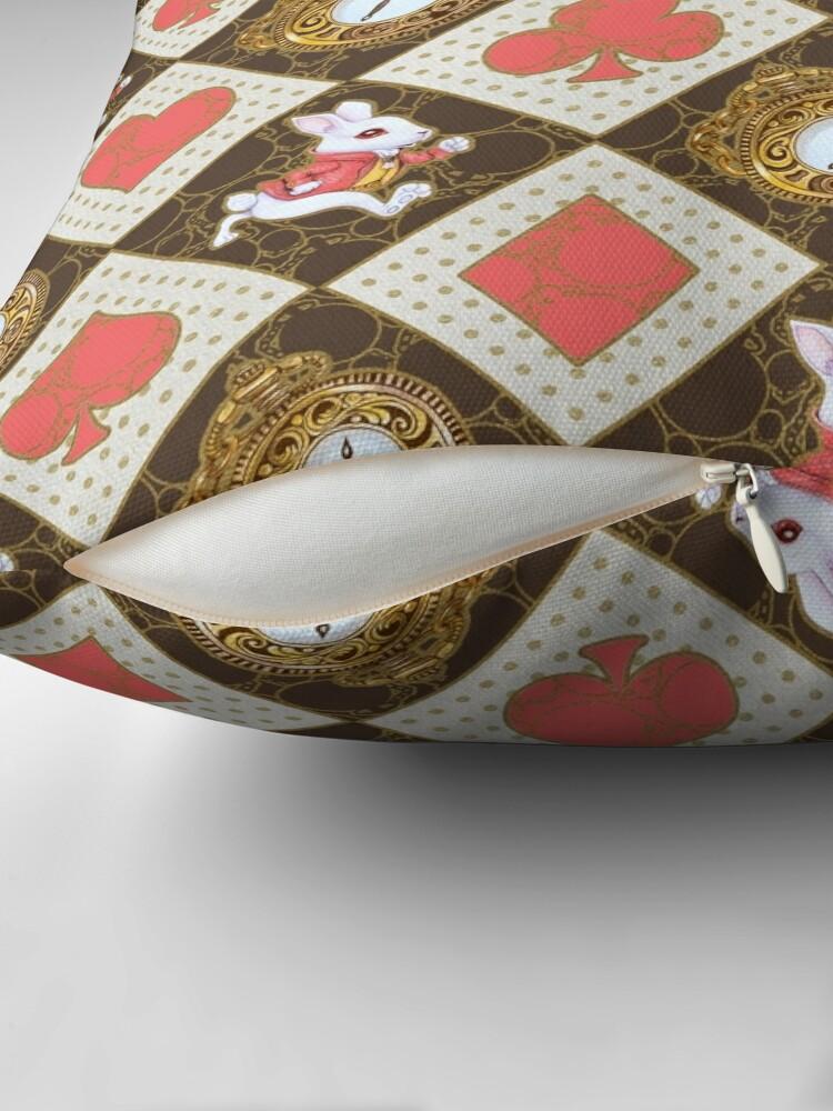 Alternate view of White Rabbit Throw Pillow