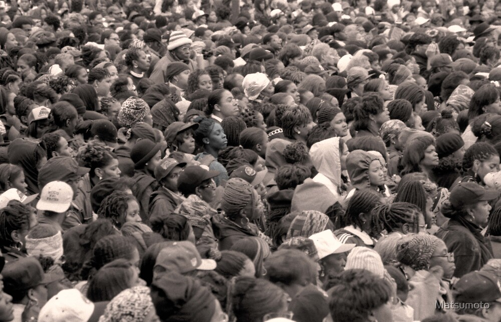 One in a Million The Million Woman March Philadelphia Pa. 1996 by Matsumoto