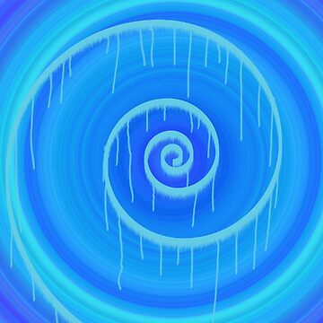 Blue Spiral III by jbattdesign