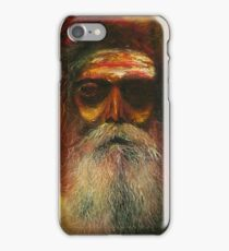 Graphic Tshirt Painting Bold colors Old man with a beard.  iPhone Case/Skin