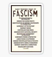 facism  Sticker