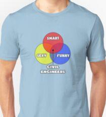 Venn Diagram ... Civil Engineers Unisex T-Shirt