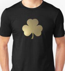 Gold Shamrock Unisex T-Shirt
