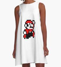 invader_mario A-Line Dress