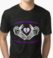 Cystic Fibrosis Heroes Tri-blend T-Shirt