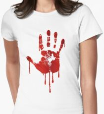 Blood hand Women's Fitted T-Shirt