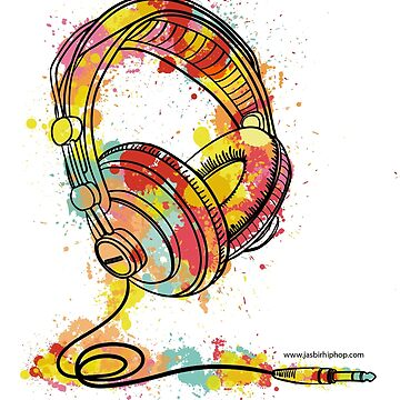 Watercolor Headphones by DesiHipHop