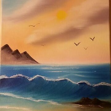 Calm Seascape lesson from Bob Ross by JulieRobin