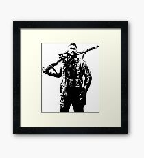 Weathered Karl Fairburne Sniper Elite 4 Framed Print