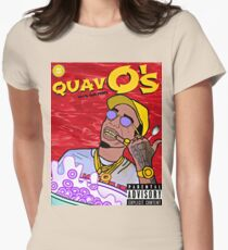 QuavO's Cereal (RED) Womens Fitted T-Shirt