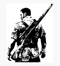 Weathered Karl Fairburne Sniper Elite 3 Photographic Print