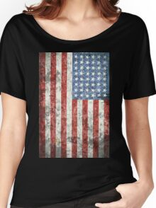 Vintage-Style US Flag Women's Relaxed Fit T-Shirt