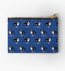 Boston Terrier dog breed pet friendly pattern simple basic dog lover gifts by PetFriendly Studio Pouch
