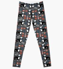 Boston Terrier nautical sailing lighthouse sailor pattern terriers dog breed by PetFriendly Leggings