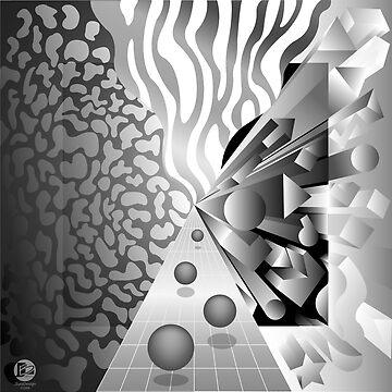 Monochrome Convergence by jbattdesign