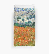 Poppy Field by Vincent van Gogh, 1890 painting Duvet Cover