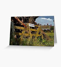 """Sunnyside Farm Gate"" Greeting Card"