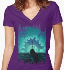 Bigger Boat Women's Fitted V-Neck T-Shirt