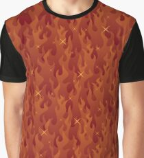 Fire Background Seamless Graphic T-Shirt
