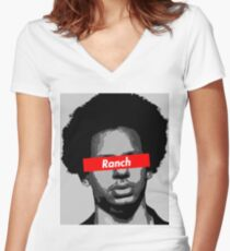 Eric Andre Ranch Women's Fitted V-Neck T-Shirt