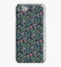 Dark Floral Patterns iPhone Case/Skin